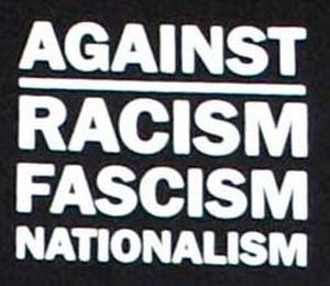 Detailansicht Polo-Shirt: Against Racism, Fascism, Nationalism
