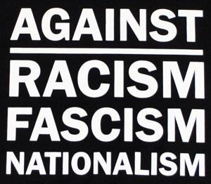 Detailansicht tailliertes Tanktop: Against Racism, Fascism, Nationalism