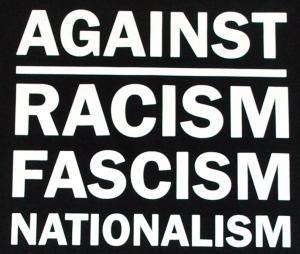 Detailansicht Man Tanktop: Against Racism, Fascism, Nationalism