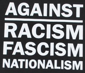Detailansicht Jogginghose: Against Racism, Fascism, Nationalism