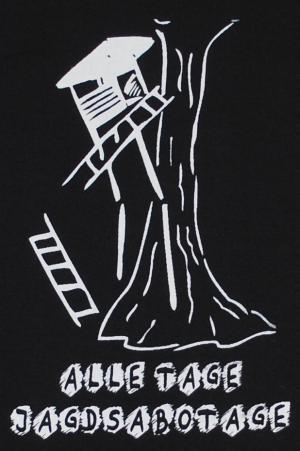 Detailansicht Girlie-Shirt: Alle Tage Jagdsabotage
