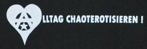 Detailansicht tailliertes T-Shirt: Alltag chaoterotisieren!