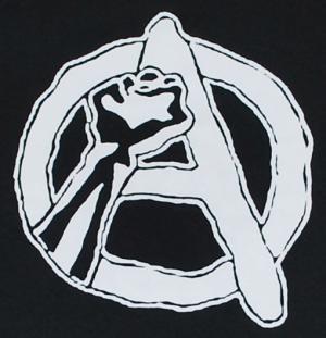 Detailansicht Kapuzen-Longsleeve: Anarchie Faust