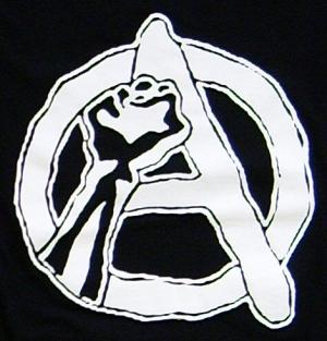 Detailansicht Girlie-Shirt: Anarchie Faust