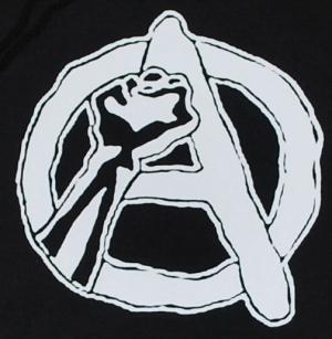 Detailansicht Kapuzen-Pullover: Anarchie Faust