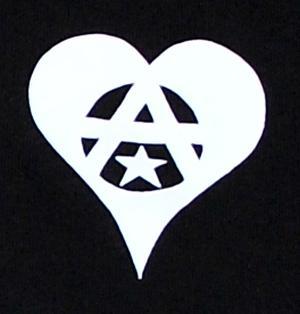 Detailansicht Kapuzen-Pullover: Anarchie Herz