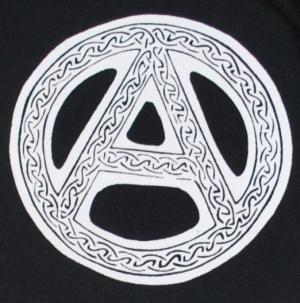 Detailansicht Kapuzen-Pullover: Anarchie - Tribal