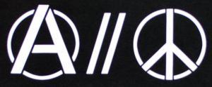 Detailansicht Trägershirt: Anarchy and Peace