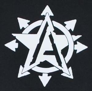 Detailansicht Kapuzen-Longsleeve: Anarchy Star