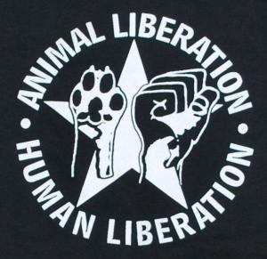 Detailansicht Longsleeve: Animal Liberation - Human Liberation (mit Stern)