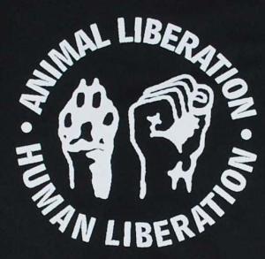 Detailansicht Kapuzen-Jacke: Animal Liberation - Human Liberation