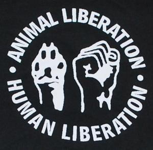 Detailansicht Sweat-Jacket: Animal Liberation - Human Liberation