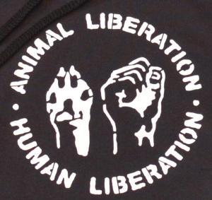 Detailansicht Kapuzen-Pullover: Animal Liberation - Human Liberation