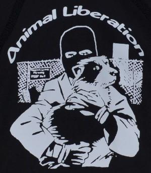 Detailansicht Kapuzen-Pullover: Animal Liberation (Hund)