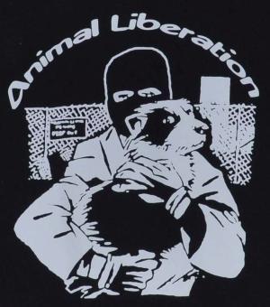 Detailansicht Kapuzen-Jacke: Animal Liberation (Hund)