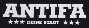 Detailansicht T-Shirt: Antifa Deine Stadt