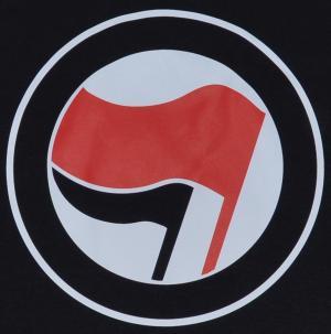 Detailansicht Tanktop: Antifa Logo (rot/schwarz, ohne Schrift)