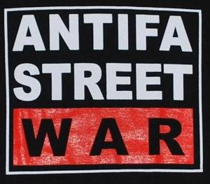 Detailansicht tailliertes T-Shirt: Antifa Street War