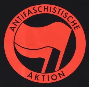 Detailansicht T-Shirt: Antifaschistische Aktion (rot/rot)