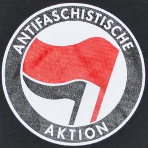 Detailansicht Top / Trägershirt: Antifaschistische Aktion (rot/schwarz)