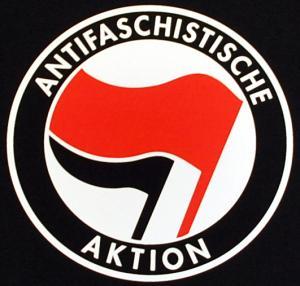 Detailansicht Woman Tanktop: Antifaschistische Aktion (rot/schwarz)