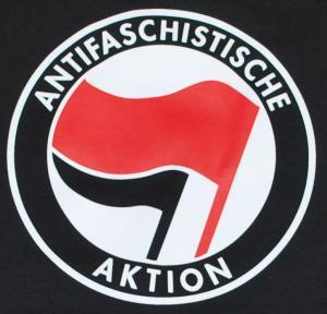 Detailansicht Man Tanktop: Antifaschistische Aktion (rot/schwarz)