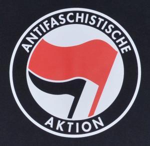 Detailansicht Longsleeve: Antifaschistische Aktion (rot/schwarz)