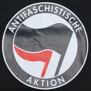 Detailansicht T-Shirt: Antifaschistische Aktion (schwarz/rot)