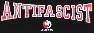 Detailansicht Girlie-Shirt: Antifascist Always
