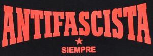 Detailansicht tailliertes Tanktop: Antifascista siempre