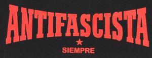Detailansicht Tanktop: Antifascista siempre