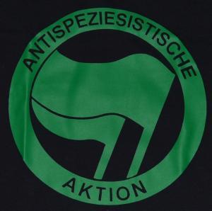 Detailansicht tailliertes Tanktop: Antispeziesistische Aktion (grün/grün)