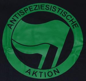 Detailansicht T-Shirt: Antispeziesistische Aktion (grün/grün)