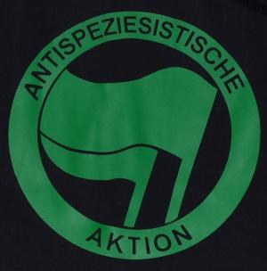 Detailansicht Kapuzen-Pullover: Antispeziesistische Aktion (grün/grün)