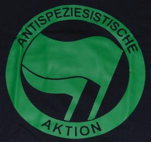 Detailansicht Girlie-Shirt: Antispeziesistische Aktion (grün/grün)