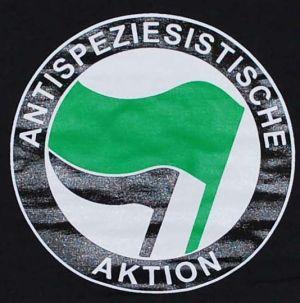 Detailansicht T-Shirt: Antispeziesistische Aktion (grün/schwarz)