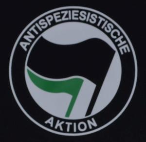 Detailansicht Longsleeve: Antispeziesistische Aktion (schwarz/grün)