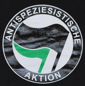 Detailansicht tailliertes T-Shirt: Antispeziesistische Aktion (schwarz/grün)