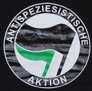 Detailansicht T-Shirt: Antispeziesistische Aktion (schwarz/grün)