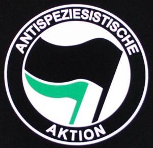 Detailansicht tailliertes Tanktop: Antispeziesistische Aktion (schwarz/grün)