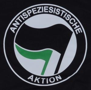 Detailansicht Fairtrade T-Shirt: Antispeziesistische Aktion (schwarz/grün)