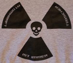 Detailansicht Kapuzen-Pullover: Atomkraft ist immer todsicher