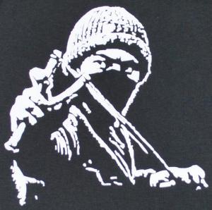 Detailansicht Trägershirt: Autonomer mit Zwille