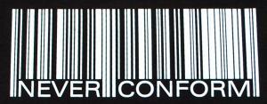 Detailansicht Tanktop: Barcode - Never conform