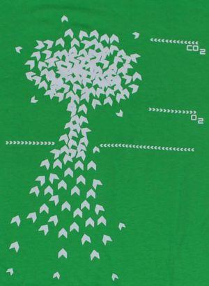 Detailansicht T-Shirt: Baum