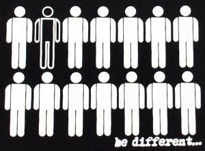 Detailansicht tailliertes Tanktop: Be different
