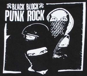 Detailansicht Sweat-Jacket: Black Block Punk Rock
