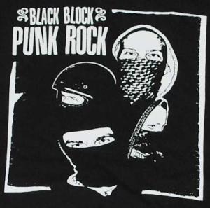 Detailansicht Polo-Shirt: Black Block Punk Rock