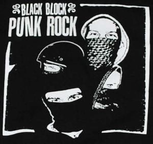 Detailansicht Kapuzen-Pullover: Black Block Punk Rock