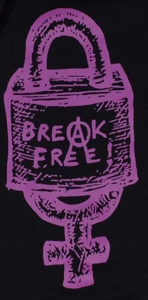 Detailansicht Kapuzen-Pullover: Break free (lila)
